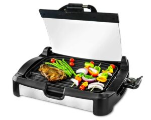Ovente GR2001B 2 in 1 Electric Griddle